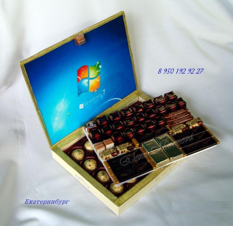 Ноутбуки из конфет своими руками 961