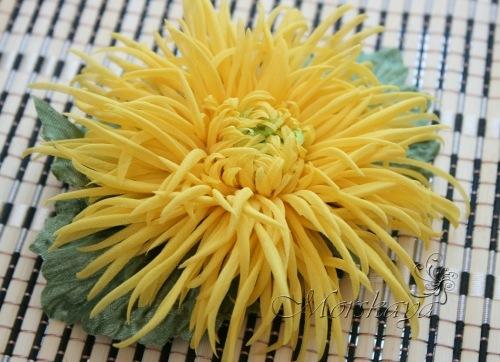 Хризантемы из ткани своими руками мастер класс