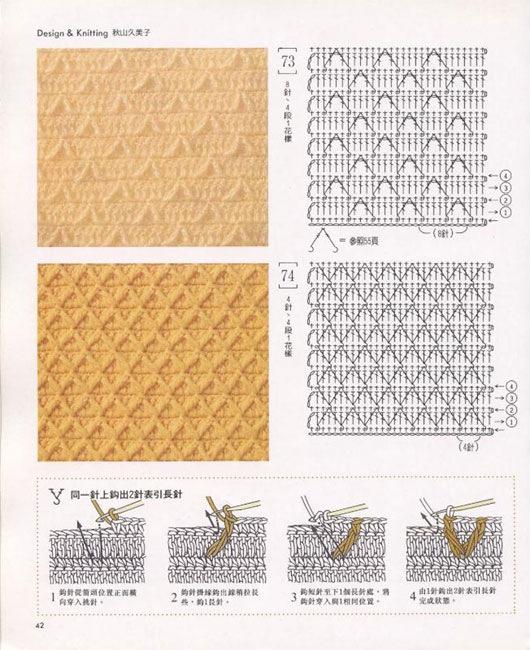 плотные узоры вяжем спицами