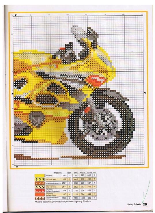 Схемы вышивок мотоциклов