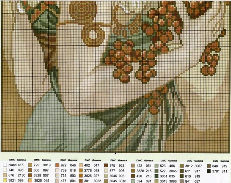 Вышивка картин альфонса мухи 708