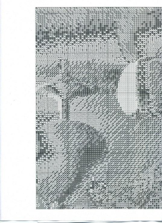 Белый натюрморт юнона вышивка крестом 95