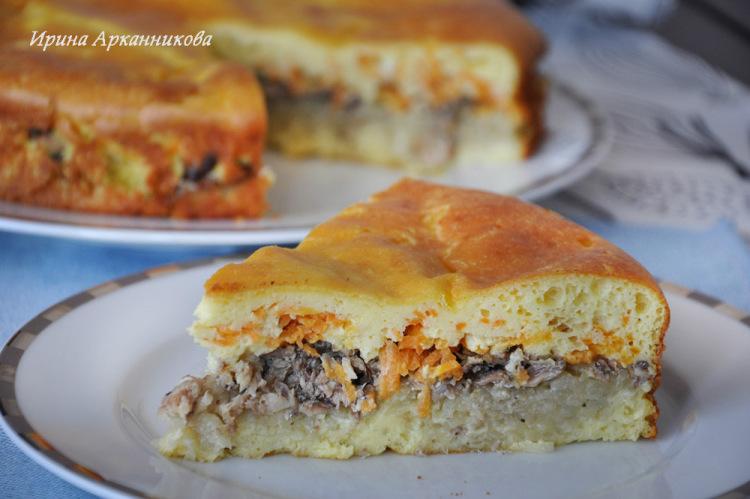Рецепт пирог с капустой и сайрой