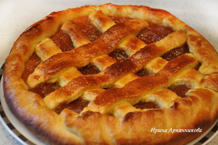 Пирог с повидлом рецепт с фото пошагово в духовке без дрожжей