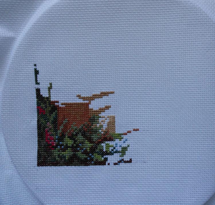 Вышивка девушка в саду panna 97