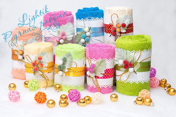 Упаковка полотенца на подарок 98
