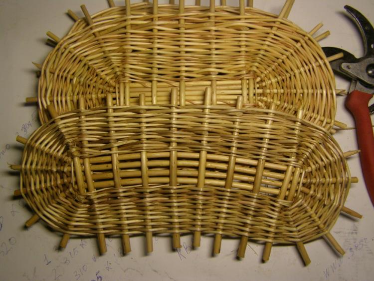 Шаблоны при плетении из лозы