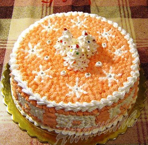 Украшение для новогоднего торта в домашних условиях