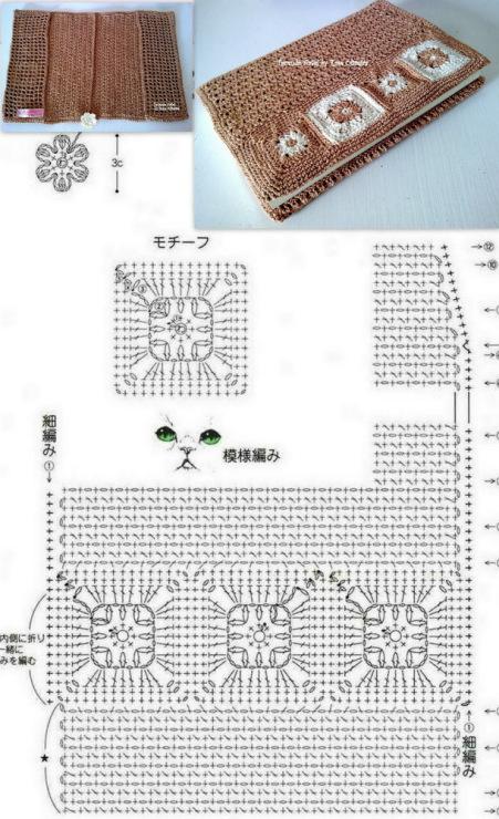Схемы вязания обложек для книг