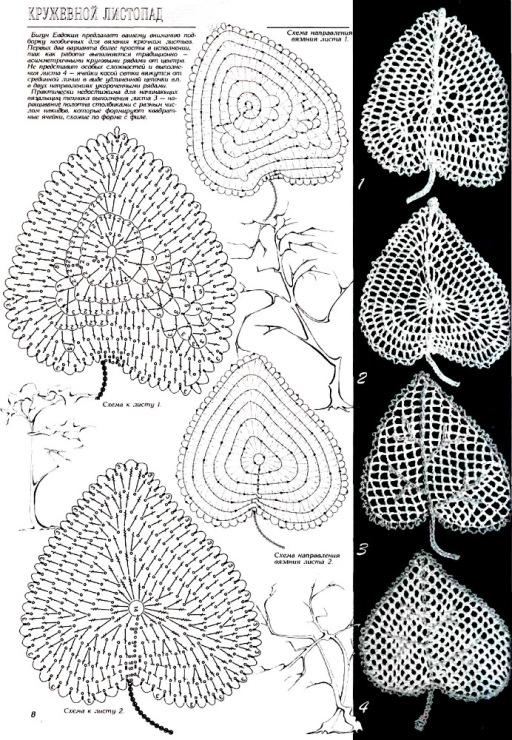 钩针:各种各样的叶子—2(镂空) - maomao - 我随心动