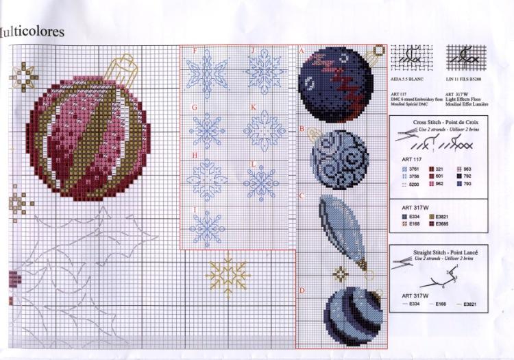 Вышивка новогодних шаров схемы 58