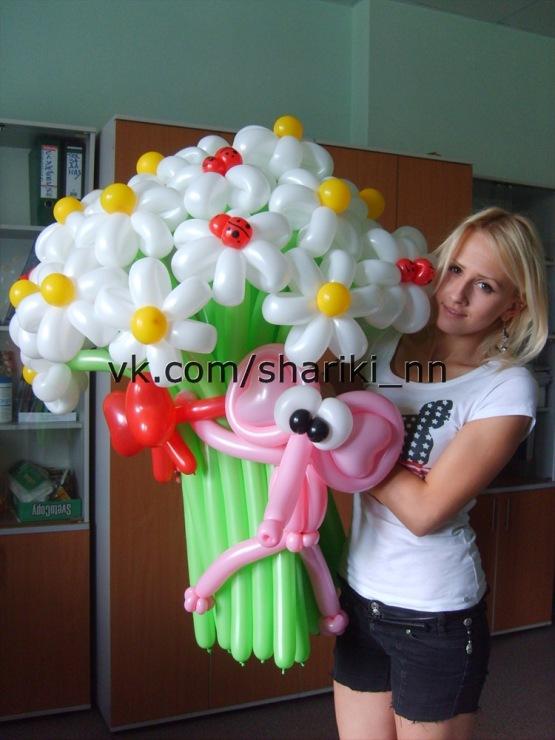 Подарок из шаров девушке на 18 лет 12