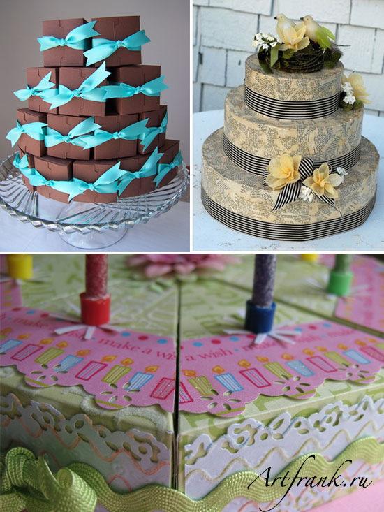 Как из бумаги сделать торт фото