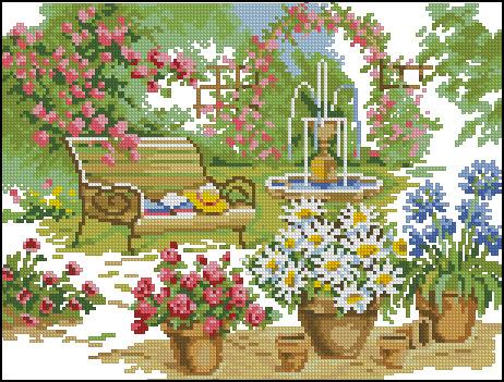 Вышивку природа и цветы