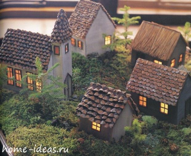 Поделка домик из природного материала своими руками