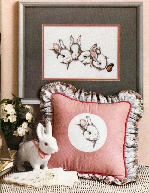 Вышивка зайцы кролики 44