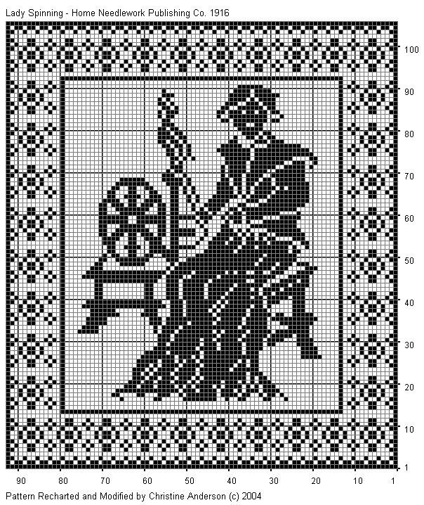 Филейное вязание для картин 500