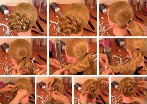 Прически на средние волосы схемы