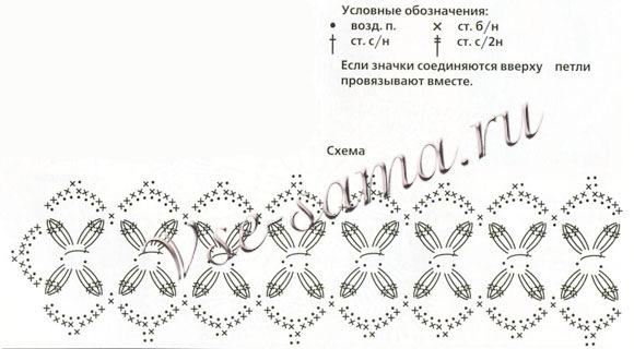 Как связать чокер на шею крючком схема