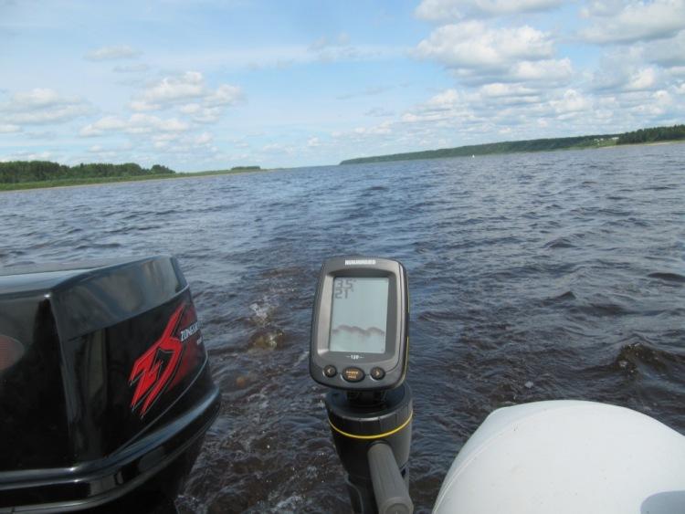 эхолот для рыбалки с лодки на реке